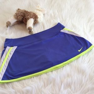 Blue & Neon Green Nike Dri-Fit Tennis Skirt/Skorts